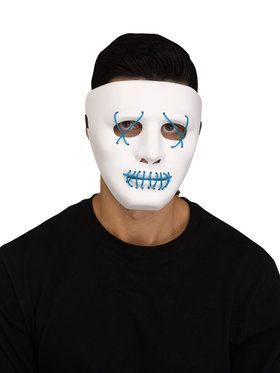 Adult Blue Illume LED Light Up Mask