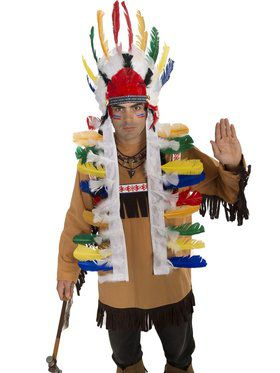 Native American Colored Feathered Headdress