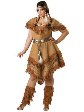 Indian Maiden Adult Plus Costume