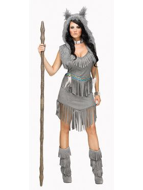 Indian Wolf Dancer Women's Costume