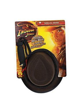 Indiana Jones Child Hat and Whip