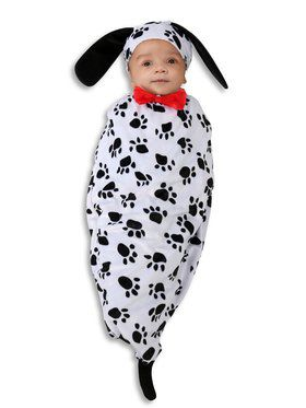 Sweet Little Dalmatian Bunting Costume for Infants
