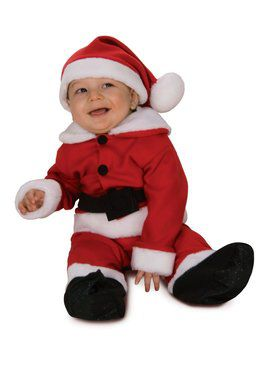 Fleece Santa Romper with Belt