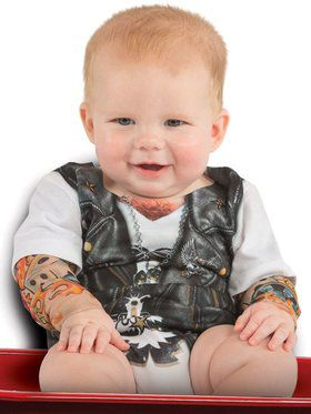 Infant's Tattoo Sleeve Romper Costume