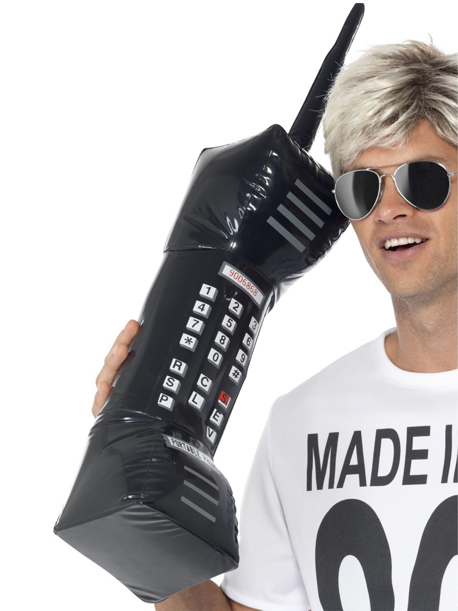 inflatable 80s retro mobile phone