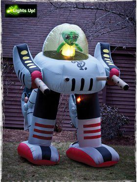 Inflatable Alien Robot Prop