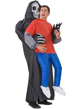 Adult Inflatable Grim Reaper Victim Costume For Adults