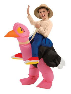 Inflatable Ride On Kids Ostritch Costume