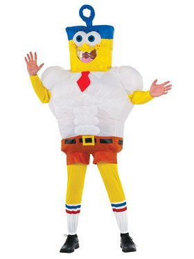 Inflatable Invincibubble SpongeBob Adult Costume
