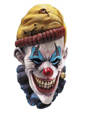 Mens Insano Latex Clown Mask