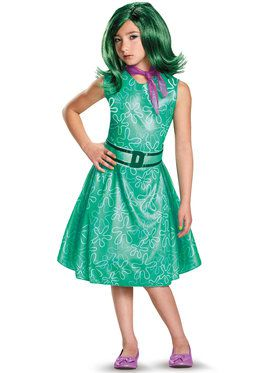 Inside Out Classic Disgust Girl's Costume