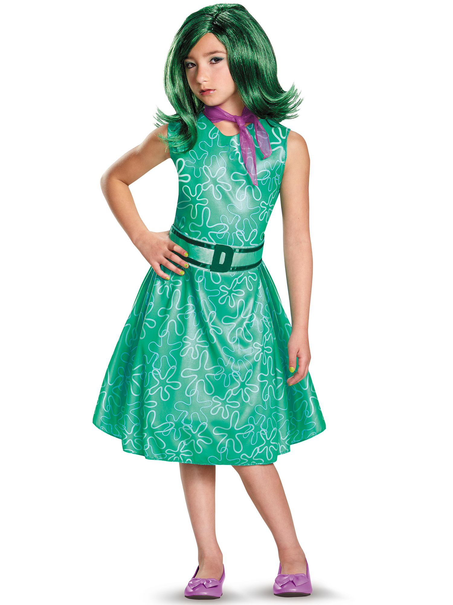 Inside Out Disgust Classic Girls Costume DI86940-L
