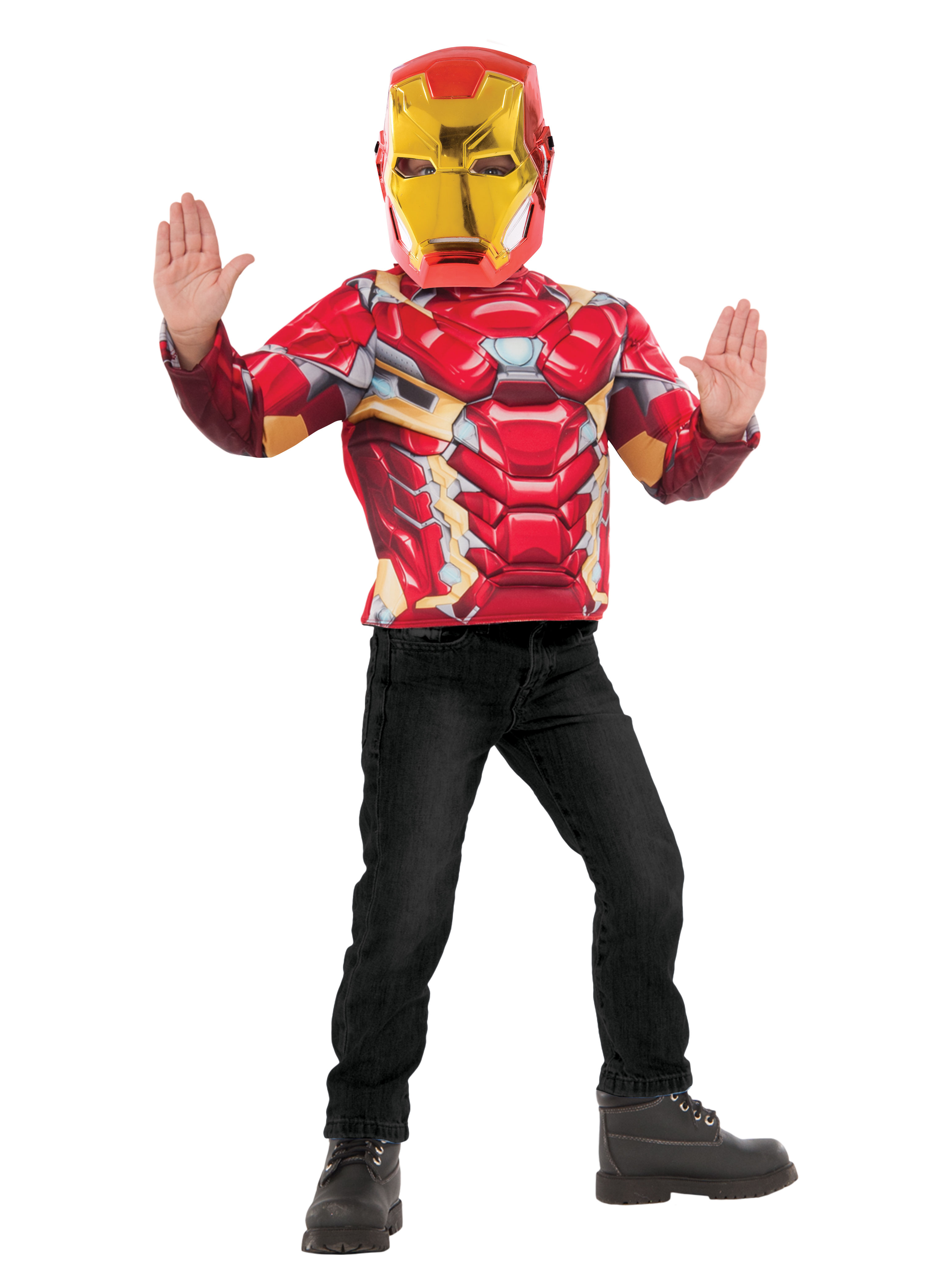 Boys Iron Man Deluxe Costume Top Set IBRG34100