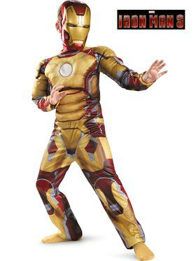 Iron Man Mark 42 Classic Muscle Childrens Costume