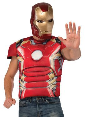 "Iron Man ""Mark 43"" Top Avengers 2 Men's Costume"