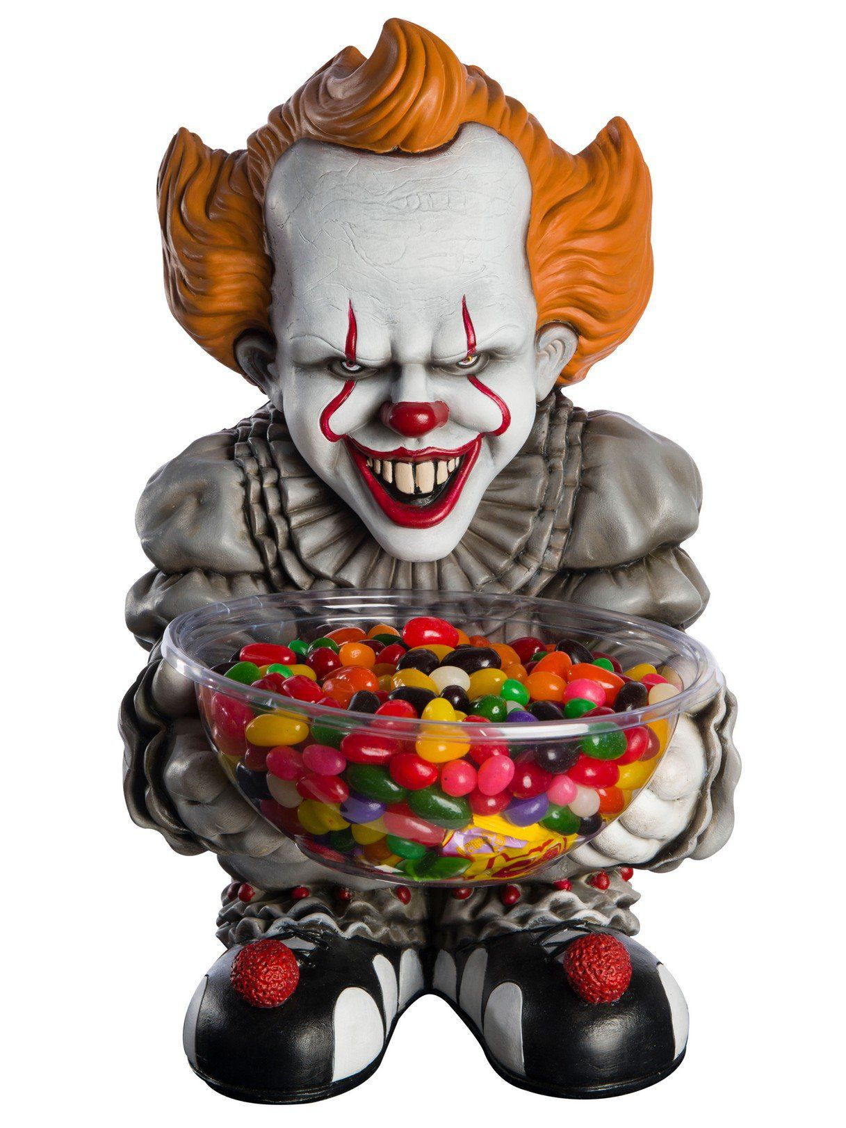 pennywise it clown candy bowl holder - halloween decorations for