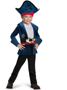 Jake And The Neverland Pirates Captain Jake Classic Costume Toddler