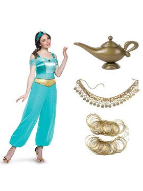 Jasmine Deluxe Adult Costume Kit for Halloween
