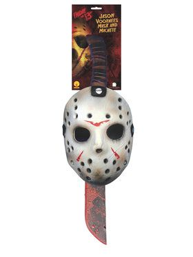 Jason Mask and Machete Set