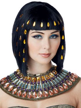 Jeweled Egyptian Wig