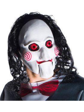 Jigsaw Adult Billy Mask with Attached Hair