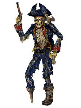 Jointed 6' Pirate Skeleton