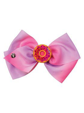 Girl's Jojo Siwa Pink Bow with Charm and Braids
