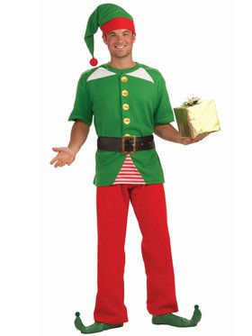 Jolly Elf Costume For Adults