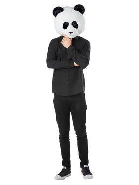 Jumbo Panda Head Mask for Adults