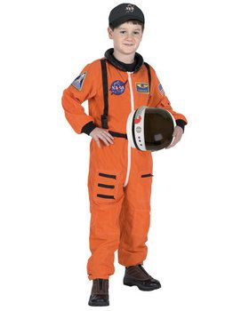 Junior Astronaut Suit Orange Child Costume