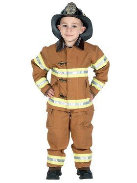Junior Firefighter Tan Child Costume