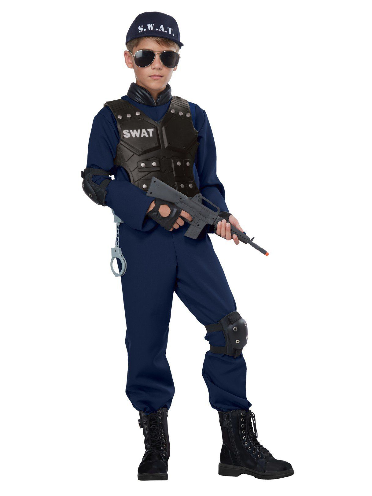 junior swat costume for children boys costumes for 2018 wholesale halloween costumes. Black Bedroom Furniture Sets. Home Design Ideas