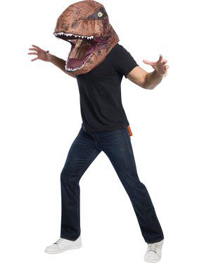 Adult Jurassic World T-Rex Inflatable Air Head Accessory