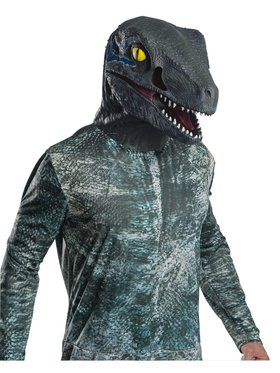 Jurassic World: Fallen Kingdom Deluxe Overhead Velociraptor Latex Mask for Adult,