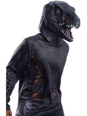 Jurassic World: Fallen Kingdom Deluxe Villain Dinosaur Overhead Latex Mask for Adults