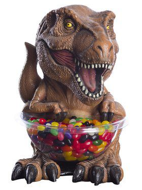 T-Rex Jurassic World Candy Bowl and Holder