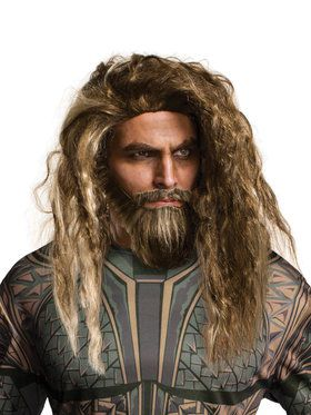 Adult Aquaman Movie Aquaman Beard and Wig Set