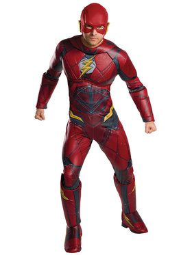 Plus Size Justice League Movie Flash Costume For Adults