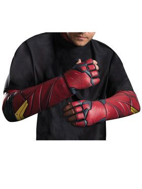 Adult Justice League Movie - Flash Gloves- For Adults