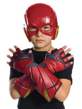Justice League Movie - Flash Gloves- For Children