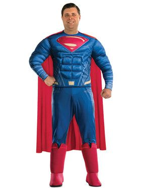 Plus Size SizeJustice League Movie Superman Costume For Adults