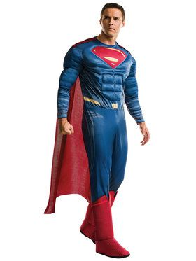 Adult Justice League Movie Superman Costume Deluxe For Adults