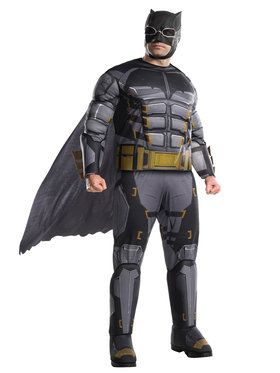 Plus Size Justice League Movie Tactical Batman Costume For Adults