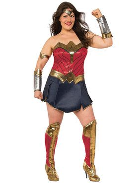 Plus Size Justice League Movie Wonder Woman Costume For Adults