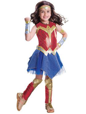 Justice League Movie - Wonder Woman Costume Deluxe For Children