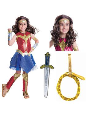 Justice League Movie - Wonder Woman Deluxe Childrens Costume Kit