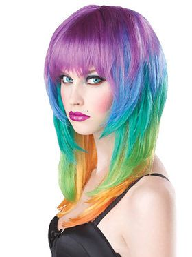 Kaleidoscope Wig For Adults