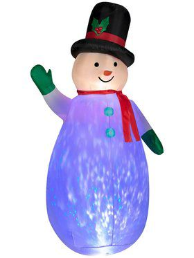 Inflatable Snowglobe Projection Snowman