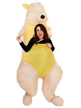 Kangaroo Inflatable Costume For Adults