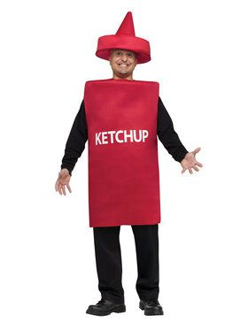 Ketchup Squeeze Bottle Adult Costume